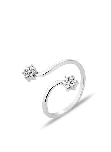 Luis Polo K-YZK 2114 Taşlı Kadın Yüzüğü Gümüş
